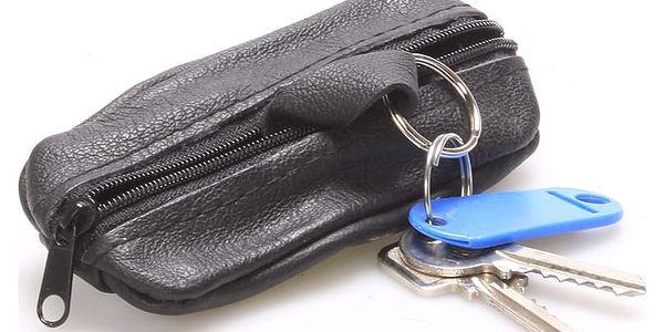 Kožená klíčenka SendiDesign černá - KL002 černá