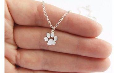 Dámský náhrdelník s psí tlapkou - dodání do 2 dnů