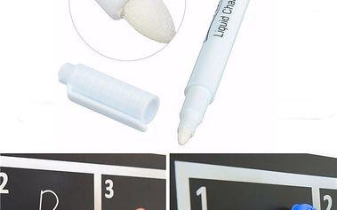 Tekutá bílá křída na tabuli