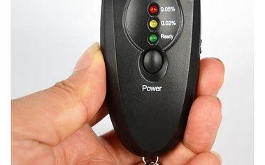 LED alkohol tester na klíče v černé barvě - dodání do 2 dnů
