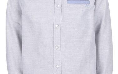 Šedá žíhaná klučičí košile 5.10.15.