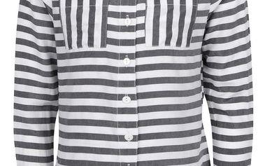 Bílo-šedá holčičí pruhovaná košile name it Happy