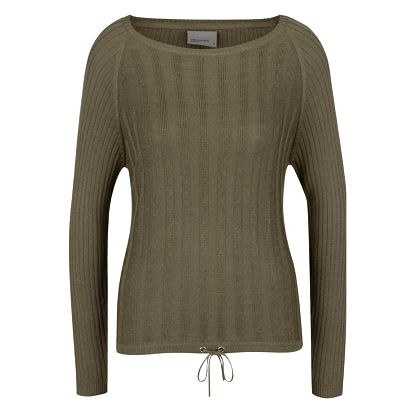 Khaki svetr s dlouhým rukávem VERO MODA Olga