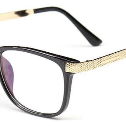 Vintage stylové brýle pro sekretářku - 3 barvy