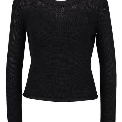 Černý svetr s průstřihem na zádech TALLY WEiJL