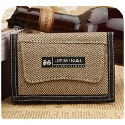 Plátěná pánská peněženka na zip - 5 barev