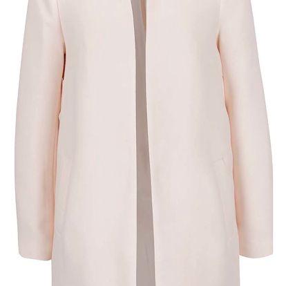 Světle růžový kabát s detaily Dorothy Perkins