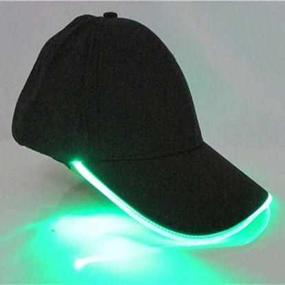 Kšiltovka s LED osvětlením - na noční vycházky - dodání do 2 dnů