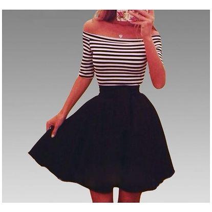 Šaty s áčkovou sukní - více variant