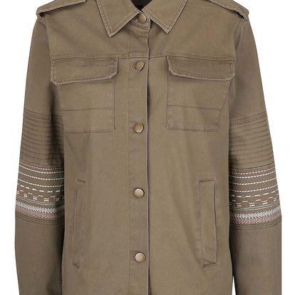 Khaki bunda s detaily na rukávech VILA Abell
