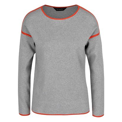 Šedý svetr s oranžovými detaily Dorothy Perkins