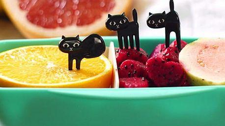 Napichovátka v podobě černých koček - 6 kusů - dodání do 2 dnů