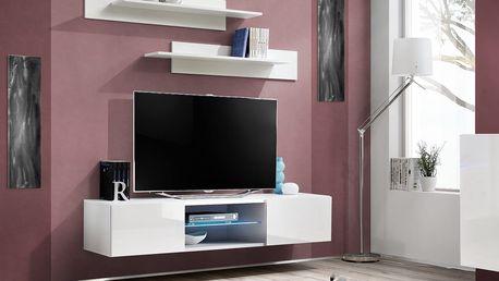 RTV stolek FLY 33, bílá matná/bílý lesk