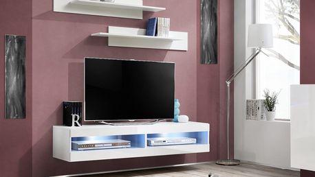 RTV stolek FLY 34, bílá matná/bílý lesk