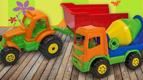 Pro malé řidiče: Nákladní auta na doma i na písek