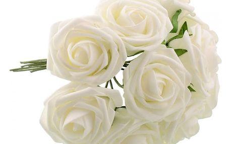 Květinová umělá dekorace v podobě kytice růží
