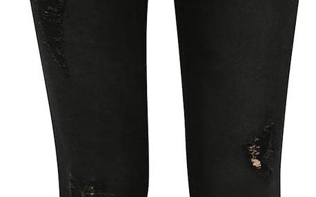 Černé holčičí džíny s potrhaným efektem LIMITED by name it Clik