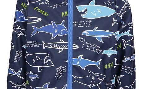 Tmavě modrá klučičí nepromokavá bunda s potiskem Tom Joule