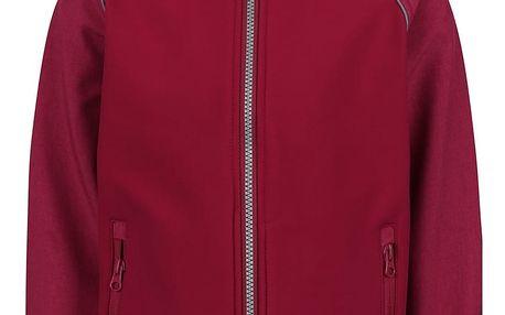 Tmavě růžová holčičí softshell bunda name it Alfa