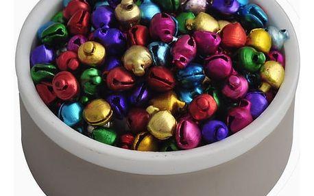 Barevné zvonečky malých rozměrů (200 ks) - dodání do 2 dnů