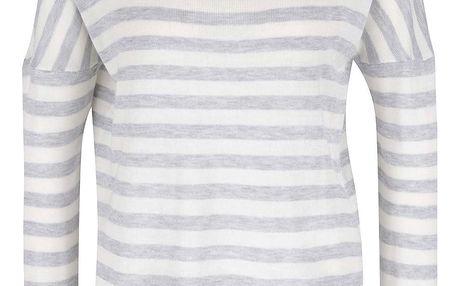 Krémovo-šedý svetr ONLY Love