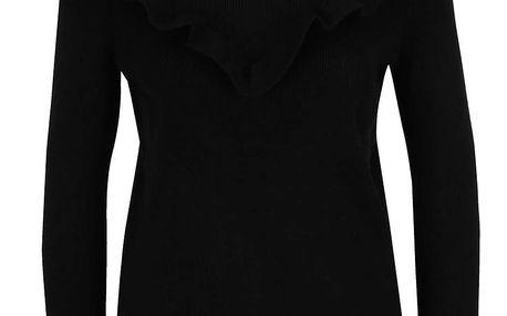 Černý svetr s volánem VILA Helt