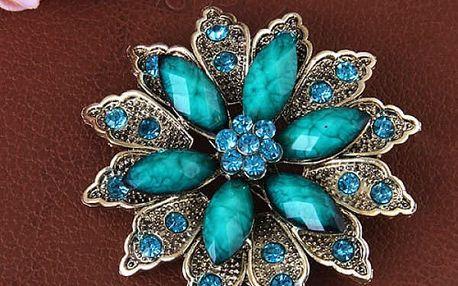Brož v podobě rozkvetlé květiny - 4 varianty