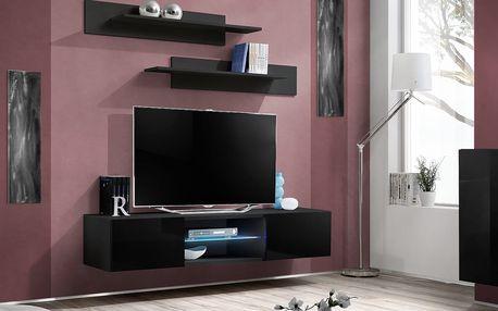 RTV stolek FLY 33, černá matná/černý lesk