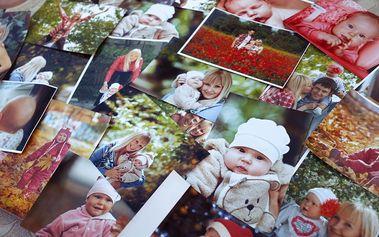 Tisk fotografií v sadě 100, 60 nebo 49 ks: na výběr více formátů, možnost osobního odběru