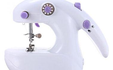 Mini šicí stroj - bílofialový