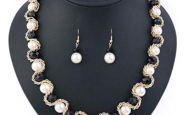 Elegantní dámský náhrdelník s náušnicemi - 5 barev
