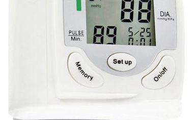 Digitální měřič krevního tlaku a srdečního tepu na zápěstí