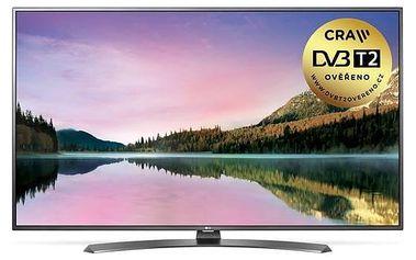 Televize LG 43UH661V stříbrná/titanium + Doprava zdarma
