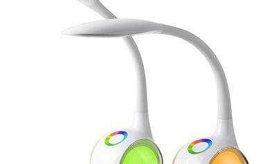 Immax LED stolní lampička T3/ 5W/ 200lm/ DC 5V/1A/ stmívatelná/ proměnlivá barevná škála světla/ flexibilní rameno/ bílá