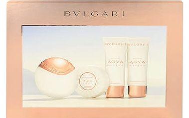 Bvlgari Aqva Divina EDT dárková sada W - EDT 65 ml + tělové mléko 100 ml + sprchový gel 100 ml + mýdlo 150 g