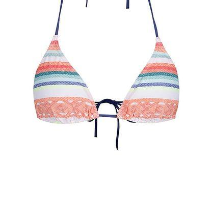Oranžové dámské dvojdílné plavky s pruhy Rip Curl Sun Gypsy