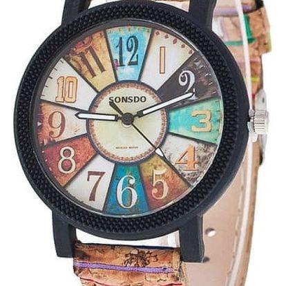 Barevné náramkové hodinky