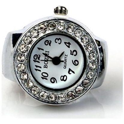 Miniaturní hodinky v provedení prstýnku