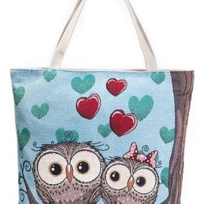 Dámská letní taška se zamilovanými sovičkami