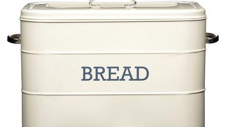 Krémová plechová dóza na chléb Kitchen Craft Bread
