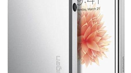 Pouzdro Spigen Slim Armor iPhone SE / 5s / 5 satin silver Stříbrná
