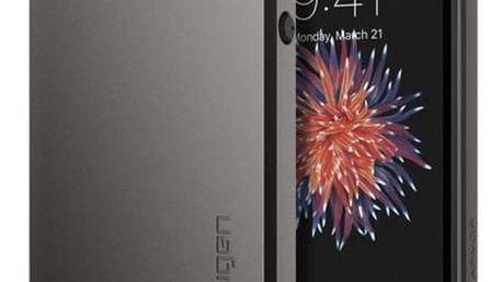 Pouzdro Spigen Slim Armor iPhone SE / 5s / 5 gunmetal Šedá