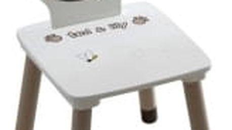 TEMPO KONDELA Puff 234551 židle, čokoládová/bílá