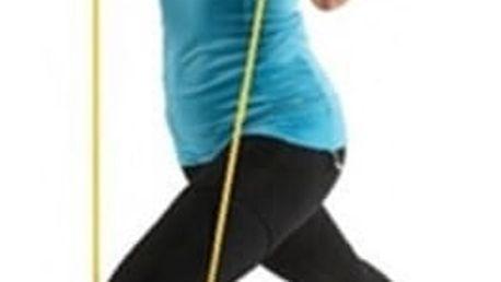 Natahovací guma na cvičení s rukojetí - 120 cm
