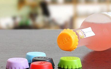 6 ks silikonových zátek na lahve
