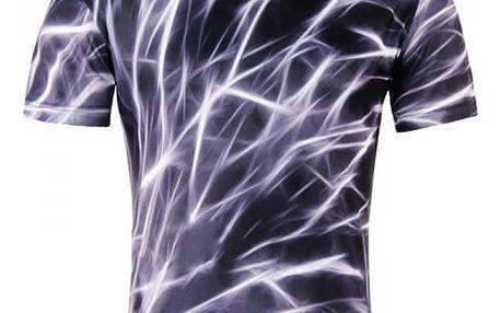 Pánské tričko s motivem blesků - krátký rukáv
