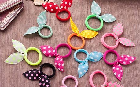 Sada roztomilých gumiček pro holčičky - 10 kusů