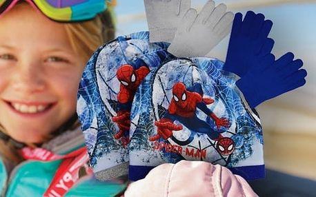 Souprava čepice a rukavice Spiderman