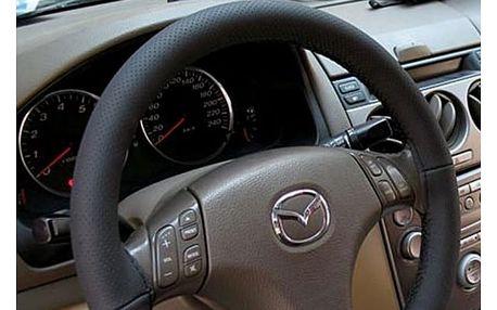 Potah na volant z černé PU kůže