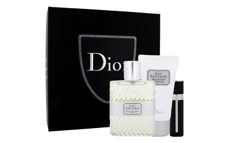 Christian Dior Eau Sauvage EDT dárková sada M - EDT 100 ml + sprchový gel 50 ml + EDT naplnitelná 3 ml